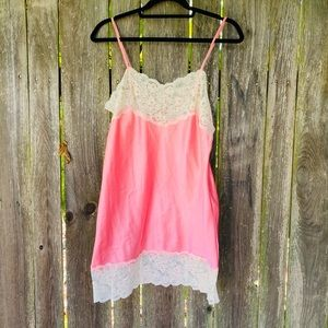 Vintage 80's pink lingerie blouse